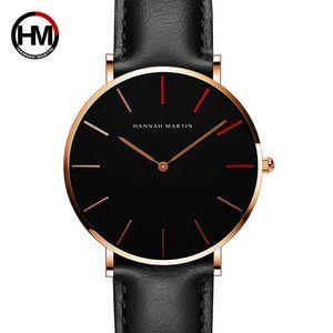 2018 neue HM Marke Quarzuhr Mode rote Dekoration Schlank Zifferblatt einfache Uhren Casual Life wasserdicht Multi-Stil-Armband HM-1230-HR36