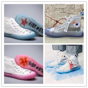 2018 Yeni Kadın Erkek Tüm Yıldız 1970 s Chuck Tuval Beyaz marka Tasarımcı Rahat Koşu Ayakkabıları Tüm Yıldız Şeffaf Net İplik Sneakers Boyutu 36-45