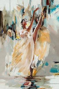 Mahnoor Şah Dansçı Wall Art Home Deco Çerçeve Seçenekleri p346 tarafından Tuval On Güzel Kadın Balerin Handpainted HD Baskı Sanat Yağlıboya Resim