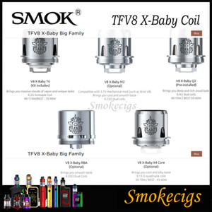SMOK TFV8 X-Baby Bobina per 4ML SMOK TFV8 X-Baby Beast Serbatoio V8 Baby X Q2 0.4ohm T6 0.2ohm V8 X M2 0.25ohm X X4 Core 3pcs / Pack 100% Originale