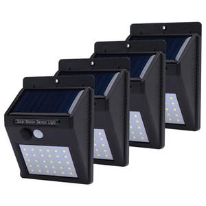 LED Solar Lamp 20 LED Водонепроницаемый PIR Датчик движения Солнечный свет Мощность сада LED Солнечный свет Открытый АБС настенный светильник