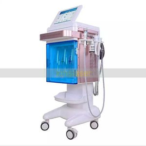 Professional facial care vertical 5 in 1 Hydra Facial, Wet Micro dermabration, Bio Current, Ultrasound Machine