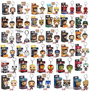 DHL Funko POP Marvel Super Hero Harley Quinn Deadpool Harry Potter Goku Joker Game of Thrones Figuren Spielzeug Keychain Actionfiguren