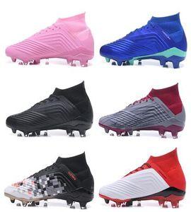 Top Predator 18 Falcon, superior a prueba de agua de gama alta de entrenamiento de fútbol FG cordones de los zapatos zapatillas de deporte, tachonada botas de fútbol con tacos, zapatos con tacos de clavos