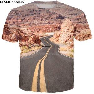 PLstar Cosmos Drop shipping 2018 été nouveau style de mode pour hommes / femmes T-shirt voyage routier USA 3D Imprimer Casual shirt Cool t