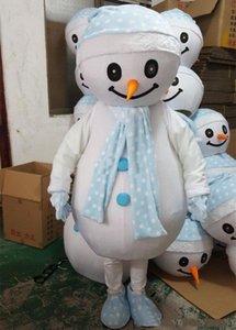 2018 Yüksek kalite Yetişkin Noel Kardan Adam Maskot Kostüm Partisi Fantezi Elbise Sokak Ekran el yapımı