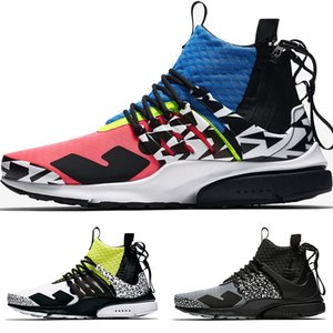 2018 New Acronym Presto Mid Men Women Running Shoes Blue Pink White Black Grey Zapatillas Moc 2 Sneakers Colourful Popular Casual Sock Shoes