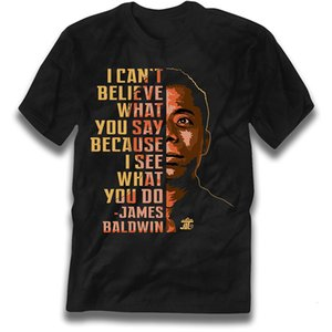 제임스 볼드윈 '나는 네가 말하는대로 믿을 수 없어.'도매 할인 그래픽 Unisex T 셔츠