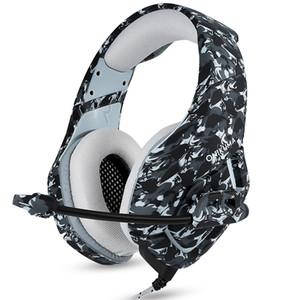 ONIKUMA K1 Camuflaje PS4 Auriculares Bass Gaming Juego de auriculares Auricular Casque con micrófono para PC Teléfono móvil Xbox con paquete minorista Refly