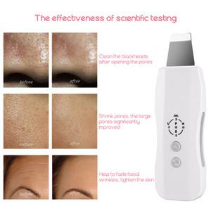 Ultrasonic Skin Scrubber Electric Facial Cleaner Rimozione delle rughe viso Comedone Acne Removal Ion Skin Firming Lifting Spatula 31