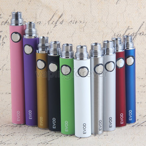 EVOD Battery Batteries for E Cigarette for 510 Thread MT3 CE4 CE5 CE6 mini Protank 650 900 1100mAh 10 Colors