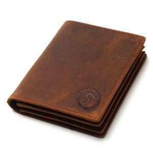 2018 Crazy horse deri erkek cüzdan deri retro iş kısa cüzdan iki kat yatay bölüm ilk katman dana