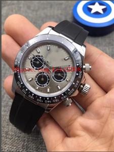 best-seller montres de haute qualité 116519LN 116519 No Cosmograph chronographe bracelet en caoutchouc 2813 mouvement automatique Mens Watch montres