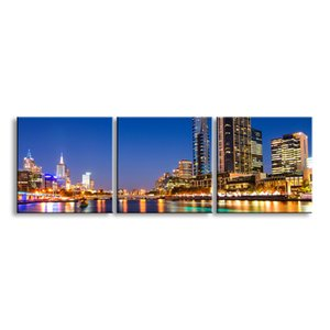 3 pieces high-definition print night view canvas prints painting poster and wall art living room picture CSYJ3-002