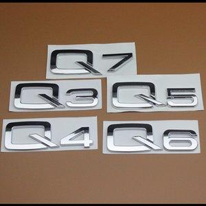 Nuevo Car styling ABS de alta calidad Emblema Del Coche Carta Posterior Número para Audi Q3 Q4 Q5 Q6 Q7 A3 A4 A5 A6 A7 A4L A6L A8L Pegatinas de Coches