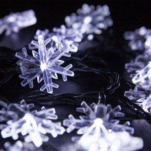 Natal Solar decorativa Desenvolvido Luzes, 20 LED Snowflake corda leve para o casamento Xmas Party Garden Lawn exterior Início Patio