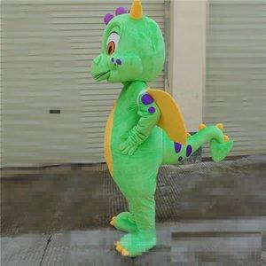 2018 tamanho venda Adulto quente traje da mascote dos desenhos animados Verde Dianosaur Natal Halloween Dianosaur aniversário vestido Carnaval Full Body Props Outfit