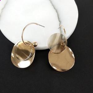brincos de jóias para as mulheres acrílico quente de moda grande rodada chapa de metal novo estilo livre do transporte