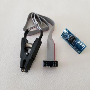 Comercio al por mayor 100 unids / lote Universal DASH Programador de Pruebas EEprom IC Clamp SOIC8 SOIC 8 SOP8 SOP Clip Cable Cable + Adaptador Para 24 93 25 26 Serie
