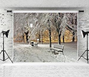 Sogno 7x5ft / 220X150cm Winter Snow fondale bianco Fotografia Neve Foresta Sfondo per Photo fotografia bambini Holiday riprese in studio
