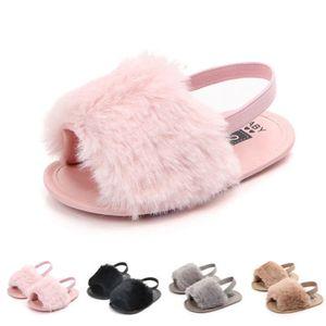 Infant Toddler Baby Girls Sandals Girls Soft Sole Fur Shoes Casual Prewalker Summer Fashion Baby Shoes