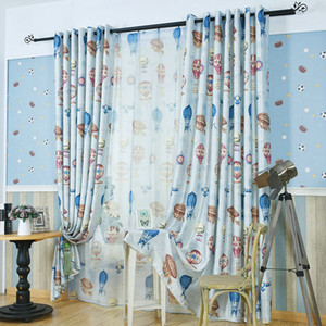 Style de pastorale ballon à air chaud impression de jardin rideau pour le salon enfants dessin animé rideaux pour chambre à coucher cuisine