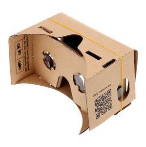 """DIY Google Cardboard Virtual Reality VR teléfono móvil 3D Gafas de visualización para 5.0 """"pantalla al por mayor"""