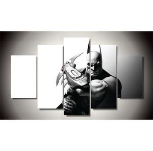 수퍼맨 VS 배트맨, 5 조각 캔버스 인쇄 벽 예술 유화 홈 장식 / (Unframed / Framed)