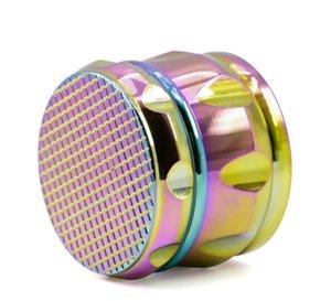 4 neue Zink-Legierung Rhombus Fase Anfasen Trommel Typ Rauchmahlwerk, Gitter, Eis, blau, bunte Zigarette Brecher.