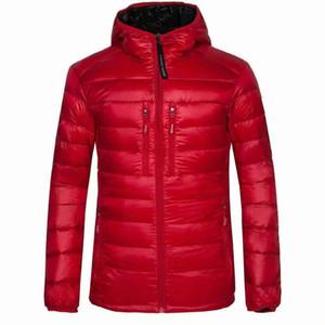 Chaqueta de plumón de ganso de plumas de ganso de los nuevos hombres de invierno de alta calidad sudaderas con capucha de la marca Casual Down Parkas abrigos de esquí para hombre calientes 200