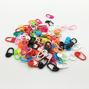 300pcs 23mm Mix Color Locking Seatter Markers Plastic Ring Markers for Knitting Crochet Plastic Safety Pinks Findings