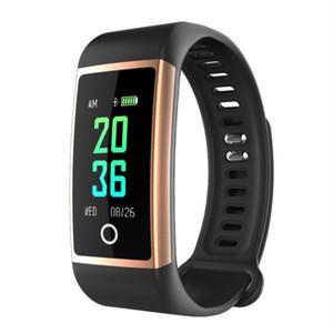 SBAO novos esportes pulseira inteligente tela colorida Bluetooth monitor de freqüência cardíaca saúde pedômetro relógio pulseira inteligente à prova d 'água