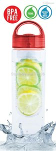 Gros-700ml fût de sport avec poignée de couvercle, infuseur de fruits de l'eau de fruits, la transparence, léger, matériau tritan sans BPA K007