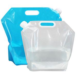 Portable Sac D'eau De La Voiture Épaississement De La Main Bouche Pliable Waters Bouteille Pratique Pack Sport Hydratant Packs Pour Voyage Camping 5 5l B