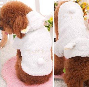 Traje de Mascota de moda Ropa para Perros Pequeño Abrigo de Ovejas Blancas Cachorro Con Capucha Ropa de Chihuahua En Ropa de Invierno Cálido XS S M L XL 116