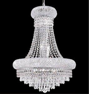 Grand lustre en cristal de salon a conduit le plafond lustre ananas transparent perle lustre en cristal lampe LLFA