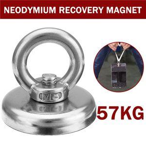 Haken Neodymium 57kg Recovery-M8 Magnet 48x40mm Detector Vpsgm