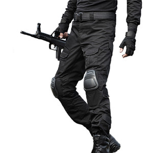 Tactical Pants  Cargo Pants Men Camouflage Pantalon Frog Knee Pads Work Trousers Army Hunter SWAT Combat Trousers