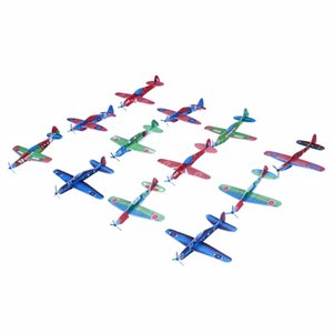 12Pcs DIY Hand Throw Flying Glider Planes Foam Aeroplane Model Party Bag Fillers Flying Glider Plane Toys For Children Kids Game