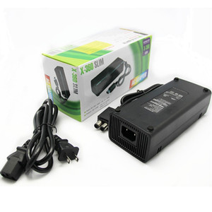X-360 Slim EU US PLUG AC Adapter Power Supply Cord Charger with Cable for XBOX 360 Slim S Console DHL FEDEX EMS FREE SHIPPING