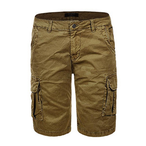 GLO-STORY Hombres europeos de alta calidad hasta la rodilla Cargo Short Hombres Casual Streetwear Bermuda Shorts para Mascilina MMK-6231
