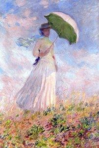 Nainen ja paivanvarjo по Claude Monet Handpainted HD Print Impressionist Art масляная живопись на холсте, высокое качество вариантов рамы p323