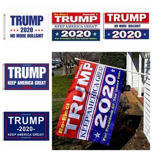 Trump 2020 Impresión de la bandera Keep America Great Banner Decor for President USA Elección en Estados Unidos No más Bullshirt Donald Flag 90x150cm MMA726 200p