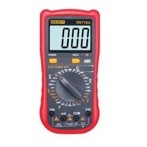 الأحمر الرقمية مقياس الفولتميتر المتر dmm dc ac الجهد الحالي متر فاحص ديود السعة hfe اختبار multimetro SNT18A