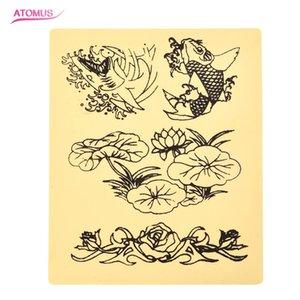4 Styles Tattoo Practice Peau Silicone Maquillage Permanent Cosmétique Tattoo Tool Formation Pratique Faux Peau Pour Débutants Excellente Cosmétique