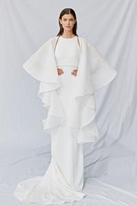 Accessoires de mariage à manches longues blanches avec applique robes de perles veste look élégant rickrack satin satin wraps