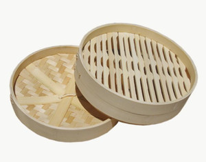 3.5 Pulgadas Jaula de Bambú Natural Steamer Vegetal Dumpling Bollo Herramientas de Cocina Suministro Para Hotel Restaurante Profesional 5gf ii
