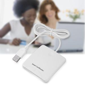 스마트 카드 리더 휴대용 USB 2.0 전체 속도 스마트 칩 리더 IC 카드 리더 신용 카드 리더 I2C 메모리 카드를 지원합니다