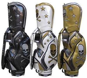 Livraison gratuite 2018 vente limitée crâne sac de golf en cuir PU hommes original balle de golf sac pour club imperméable sac de club
