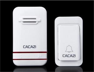 CACAZI Kablosuz Kapı Zili Hiçbir Pil Led Işık Kapı Zili 100-240 V Kapı Bell Su Geçirmez Push Button Ile + 2 AB tak Alıcıları
